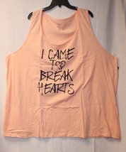 Cute New Torrid Womens Plus Size 5 X 5 Apricot I Came To Break Hearts Tank Top - $21.28