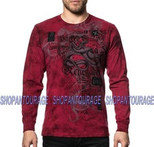 Affliction Snake Bite A19697 New Long Sleeve Graphic Fashion T-shirt For Men - $60.47