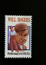 1979 15c Will Rogers, Humorist Scott 1801 Mint F/VF NH - $0.99