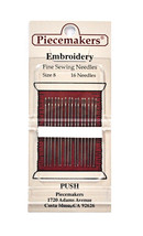 Piecemaker Embroidery Fine Sewing Needles Size 8 - $7.65