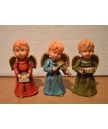 Vintage Hand-Painted Christmas 3 Choir Angels In Original Box Made In Japan - $43.54