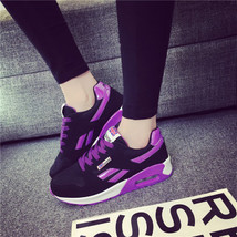 pa020 Low-cut flat heels air cushion sneaker,spell color,size 35-40,black/violet - $48.80