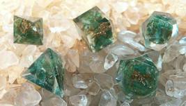ORGONE SACRED GEOMETRY 5 PIECE GREEN AVENTURINE SET, PLATONIC SOLIDS, REIKI - $16.29