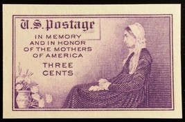 1935 3c Mother's, Imperforate Single Stamp issued without gum Scott 754 ... - $2.73