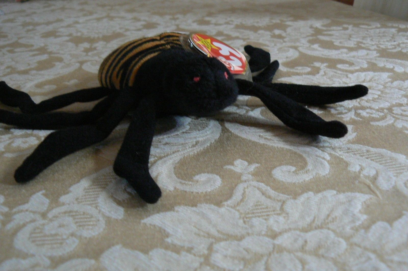 "Rare TY Original Beanie Babies "" Spinner "" The Spide Errors- #4183-Retired-Error image 2"