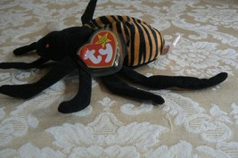 "Rare TY Original Beanie Babies "" Spinner "" The Spide Errors- #4183-Retired-Error image 3"