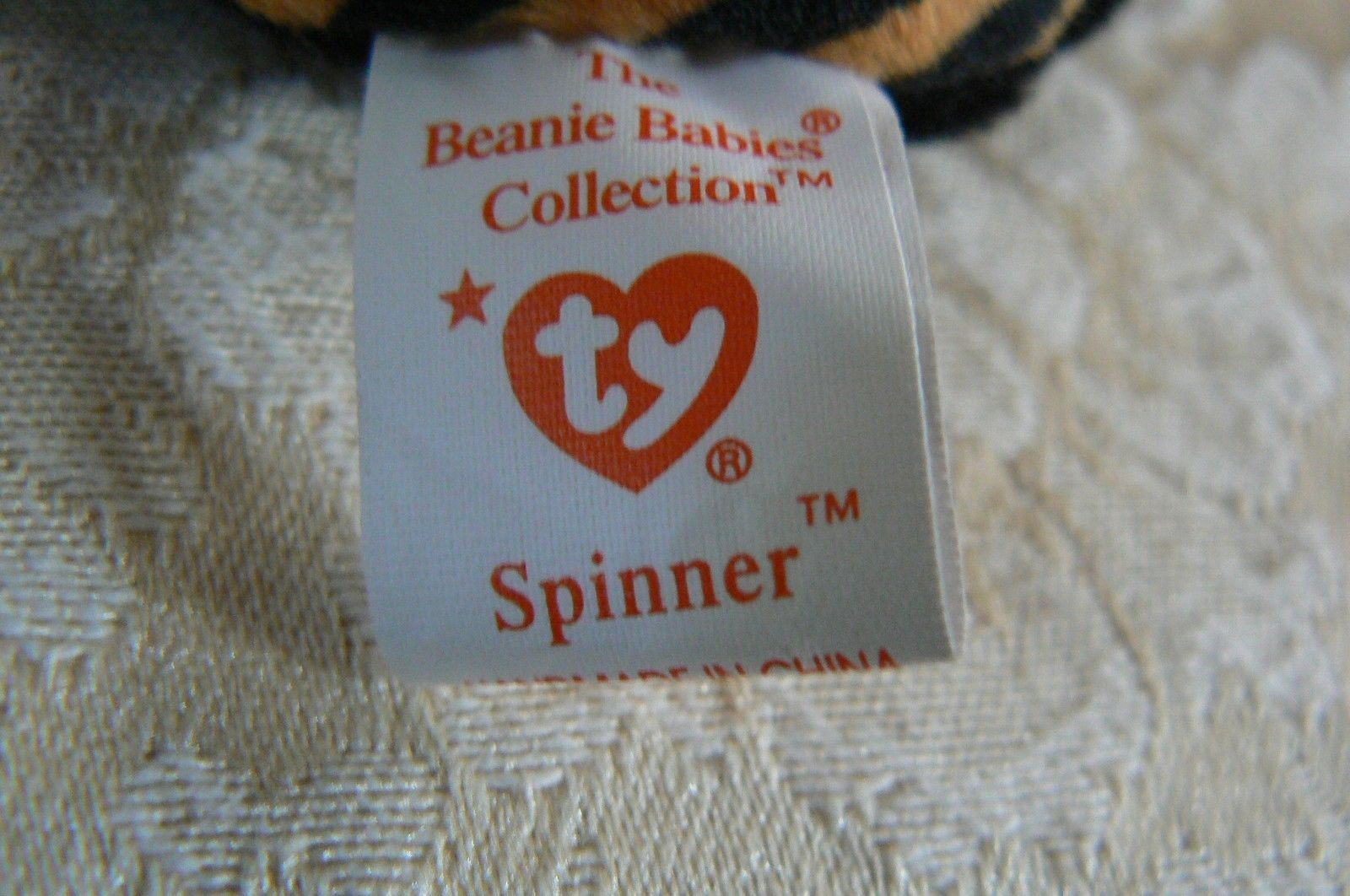 "Rare TY Original Beanie Babies "" Spinner "" The Spide Errors- #4183-Retired-Error image 7"