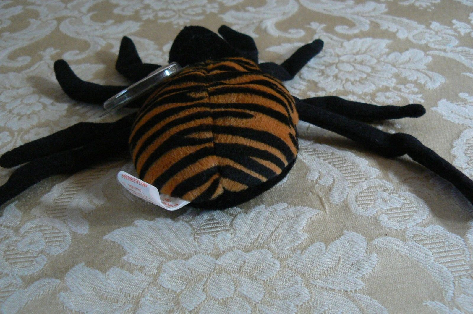 "Rare TY Original Beanie Babies "" Spinner "" The Spide Errors- #4183-Retired-Error image 4"