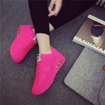pa021 Low-cut flat heels air cushion sneaker,solid color,size 35-40,red - $48.80