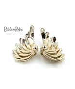 Kramer Earrings Scalloped Edges, Multi Layer, Dramatic Curves - $17.00