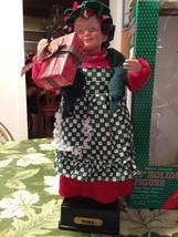"Vintage Santa's Workshop 16"" Holiday Figure Mrs Claus Plays Christmas Songs - $27.99"