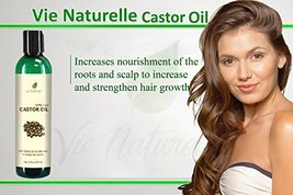 Pure Castor Oil Cold Pressed for Eyelashes Skin... - $16.27