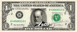 SIGMUND FREUD on REAL Dollar Bill Cash Money Bank Note Currency Dinero C... - $5.55