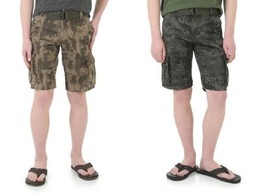 Wrangler Boys Camouflage Cargo Shorts w/ Belt Black or Green Sizes 4, 5 or 6 NWT - $16.99