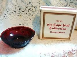 CAPE COD COLLECTION AVON DESERT BOWL PLATE GLASSWARE - $8.20