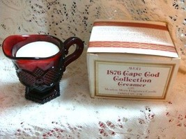 AVON CAPE COD CREAMER WITH MEADOW MORNING CANDLE NIB! - $16.81