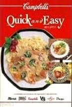 Campbells Quick and Easy Recipes Hardback Cookbook - $11.02