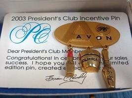 Avon PC 2003 Incentive Goldtone Pin Brooch - $7.69