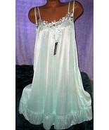 Semi Sheer Nightgown Slip Chemise 1X Mint Green... - $13.99