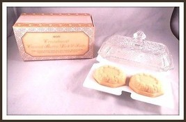 Avon Crystalucent Covered  Butter Dish & Fragranced Soaps - $23.55