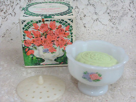 Avon Hostess Blossoms Flower Arranger Soap Dish w/ Fragranced Soap - $17.99