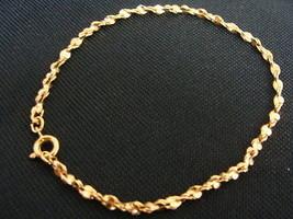 Avon Goldtone Facets Wrist Large Bracelet Vintage - $6.79