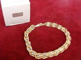 Avon Goldtone Captured Facets Bracelet Large - (vintage) - $7.78
