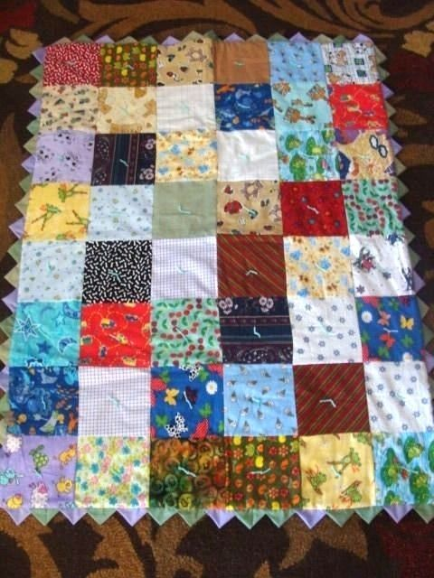 """Hand Crated Quilt 65"""" x 41"""""""