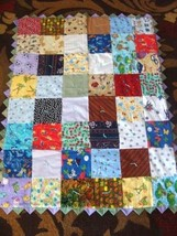 "Hand Crated Quilt 65"" x 41"" - $29.45"