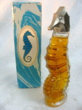 Avon Heres my Heart Cologne Sea Horse Miniature Decanter 1.5 oz. - $12.64