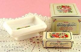 Avon Country Garden Soap Dish & Elusive Perfumed Soap w/ Dish Vintage - $15.14