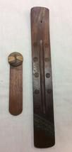 Wood Handmade Book Marker with Dragonfly Design and Incense Burner Set. - $8.95