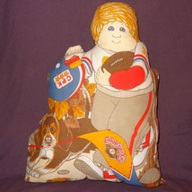Cabbage Patch Kids Football Player Plush Stuffed Pillow Finished 1983 16... - $25.25