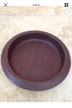 "Wooden Serving Bowl Approximately 9"" Across - $24.99"