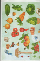 veg garden theme decoupage sheet high quality printed on quality paper ideal