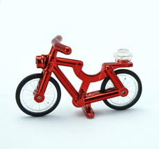 Crimson Red Chrome Bicycle Lego Compatible - $5.95