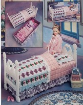 Doll Storage Bed Barbie Annie's Plastic Canvas Pattern/Instructions Leaflet NEW - $7.17