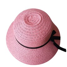 sun hats for women summer visor hat Floppy Foldable Ladies Straw Beach Wide Brim image 5