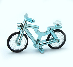 Turquoise Chrome Bicycle Lego Compatible - $5.95
