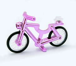 Pink Chrome Bicycle Lego Compatible - $5.95