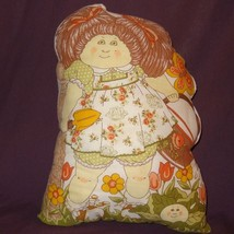 Cabbage Patch Kids Girl Flower Basket Plush Stuffed Pillow Finished 1983... - $25.25