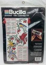 Bucilla 82714Birds Strawberries Jeweled Calendar 1991 12 x 24 Unopened - $8.99