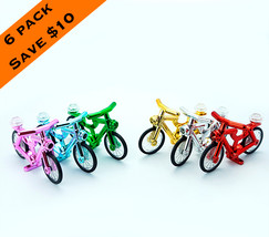 6 Pack Chrome Bicycle Lego Compatible - $25.70