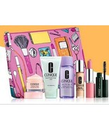 Clinique 7 Piece Set, Cosmetic Bag, Cleanser, M... - $24.19
