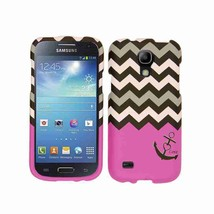 Sharp Pink Zig Zag Anchor Case for Samsung Galaxy S4 Mini  Protective Cover - $8.07