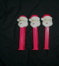 3 Pez Dispensers Santa Claus Christmas Holiday Red - $4.94