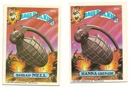 1987 Garbage Pail Kids Cards Series 9 365a Shrap Nell / 365b Hanna Grenade - $5.00