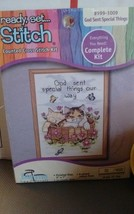 Ready Set Stitch Counted Cross Stitch Kit #999-1009 God Sent Special Things NEW - $10.39