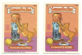 1987 Garbage Pail Kids Cards Series 10 410a Scratching Pole / 410b Clawe... - $5.00