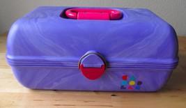 Vintage Caboodles 2-Tier Purple Retro Makeup Tr... - $39.95